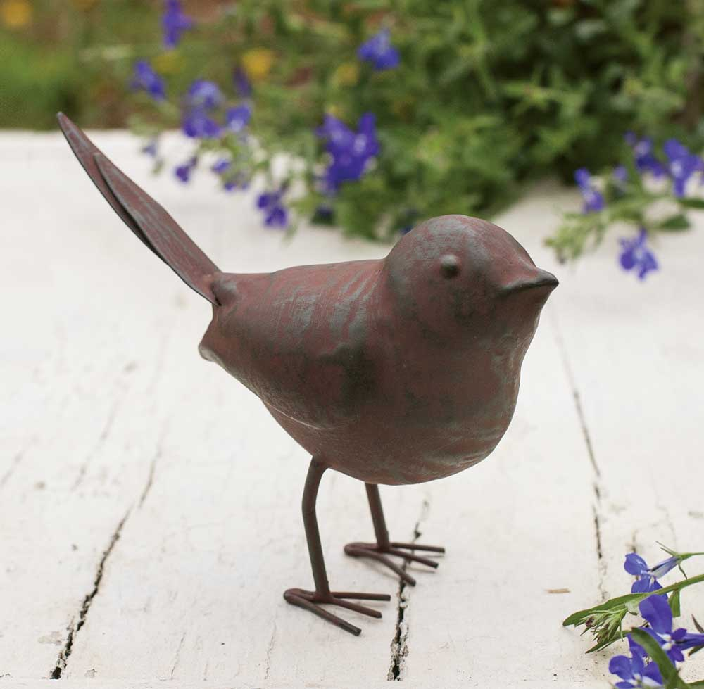 Friendly Metal Songbird Figure