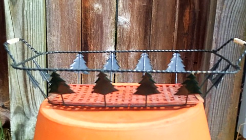 Christmas Tree Metal Wire Basket Tray