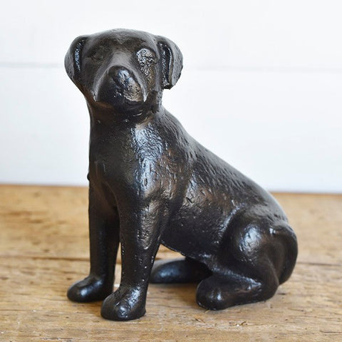 Black Cast Iron Dog Figure