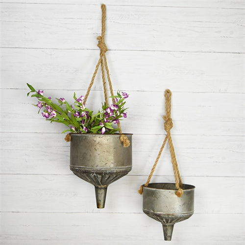 Set of 2 Funnel Shaped Planters