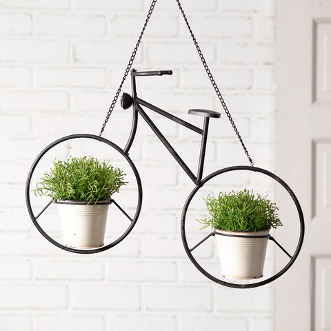 Hanging Bicycle Double Pot Planter