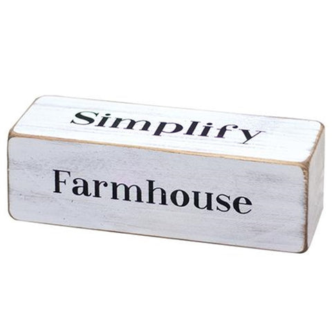 Farmhouse Words Four-Sided Block