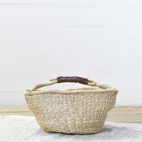 Natural Seagrass Handled Basket