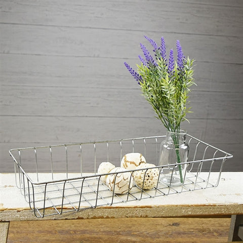 "Simple Farmhouse Wire Basket 7"" x 19"""