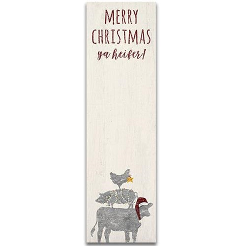 Merry Christmas Ya Heifer Farm Animals Notepad