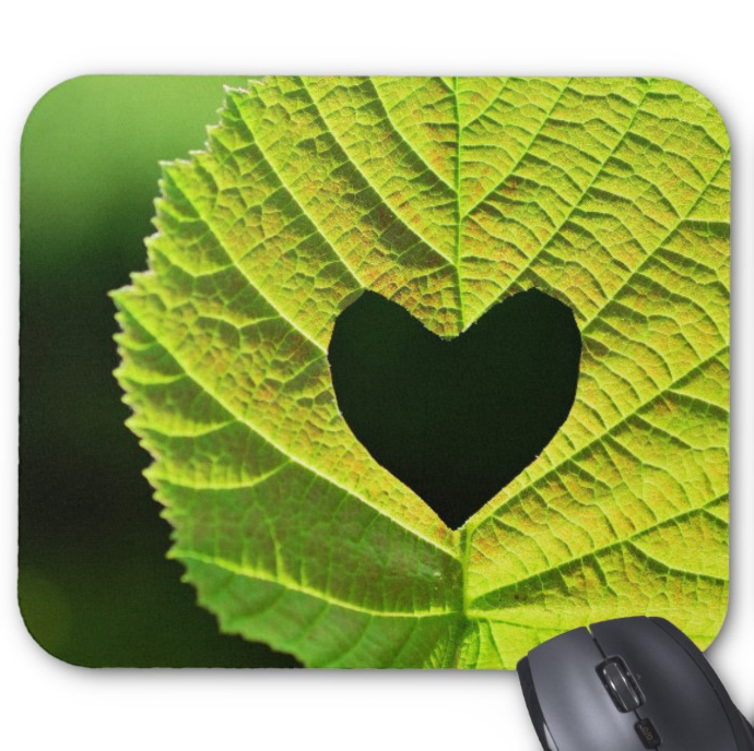 Nature Photo Mousepad - Heart Leaf - Mouse Pad