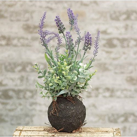 "Rooted Wild Lavender 14"" Faux Botanical"