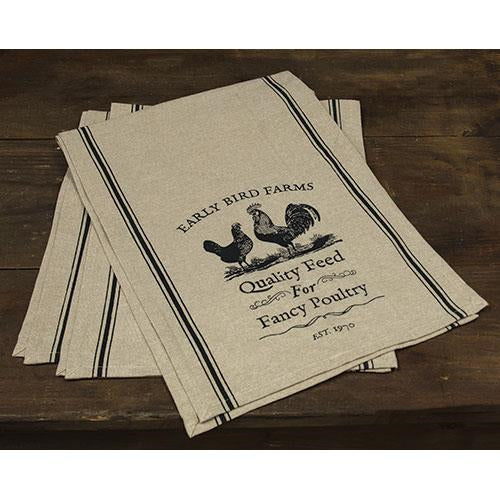 "Fancy Poultry Rooster & Chicken 48"" Table Runner"
