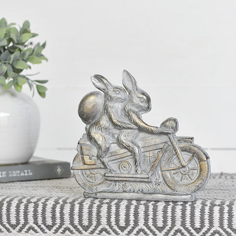 Rabbit Couple on Motorcycle Easter Resin Mold