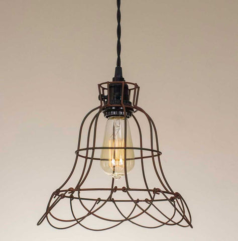 Buttercup Wire Pendant Rustic Finish Lamp