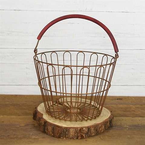 Rustic Gathering Wire Round Basket 12""