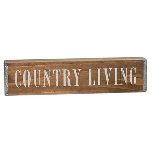 "Country Living 12"" Wooden Table Sign"