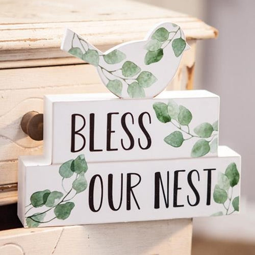 Bless Our Nest Spring Bird Sitter Sign