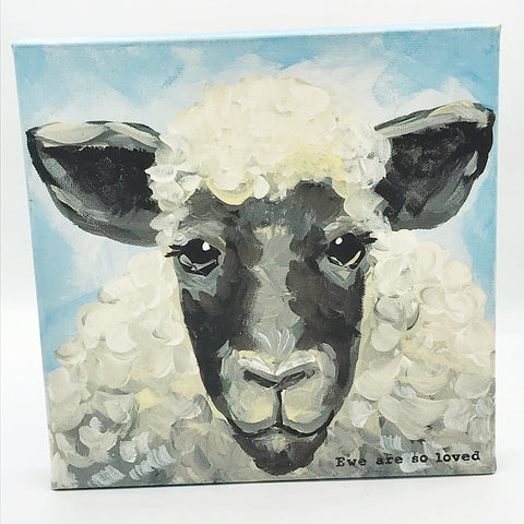 Glory Haus Ewe are So Loved Sheep Canvas Print