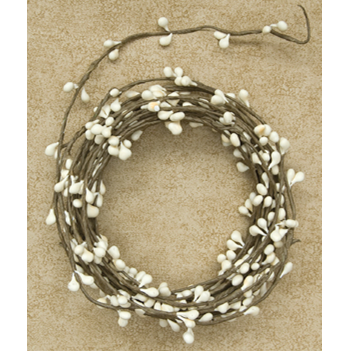 Cream Pip String 18 ft Garland