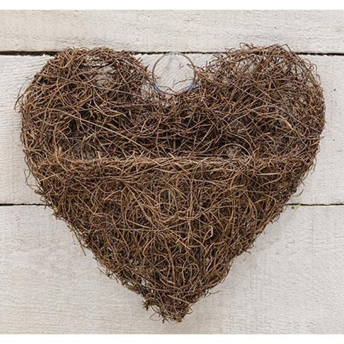 Angel Vine Heart Wall Basket