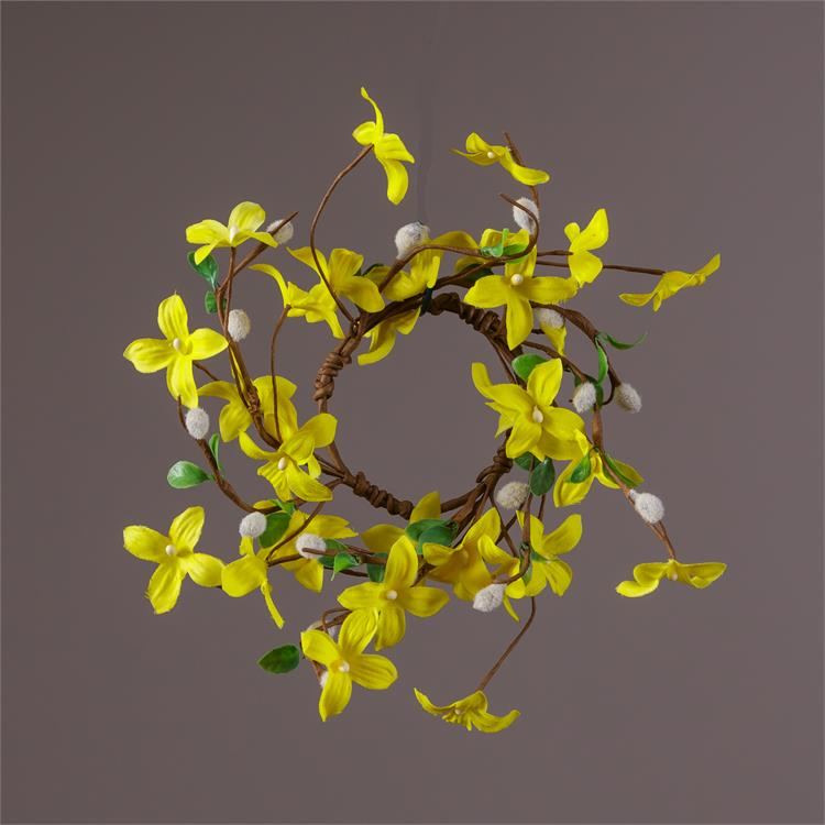 Forsythia & Pussywillows Small Wreath