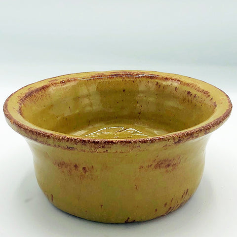 Tan and Brown Handcrafted Pottery Bowl