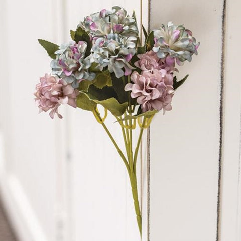 "Purple-Blue Petite Bloom Hydrangea 10"" Spray"