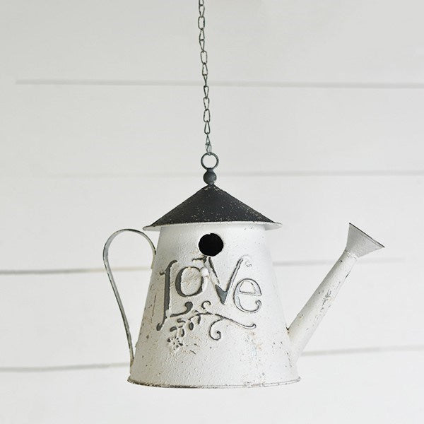 Chippy White Love Sprinkler Birdhouse