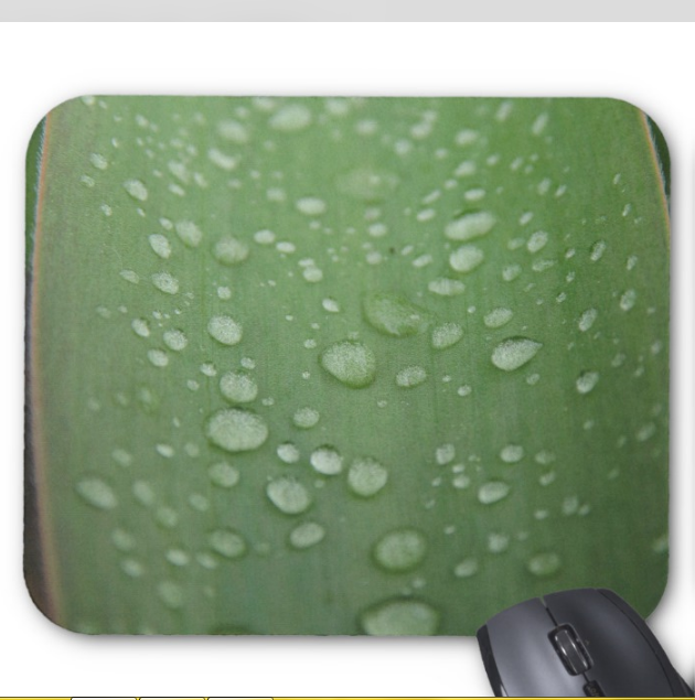Nature Photo Mousepad - Water Droplets - Mouse Pad