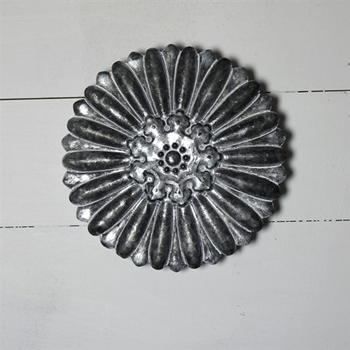 "Decorative Tin Tile 10"" Flower Design"