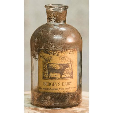 "Bergey's Dairy Vintage Style 8"" Glass Bottle"