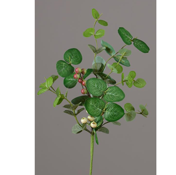 "Eucalyptus Berry Cluster 17"" Faux Botanical Spray"