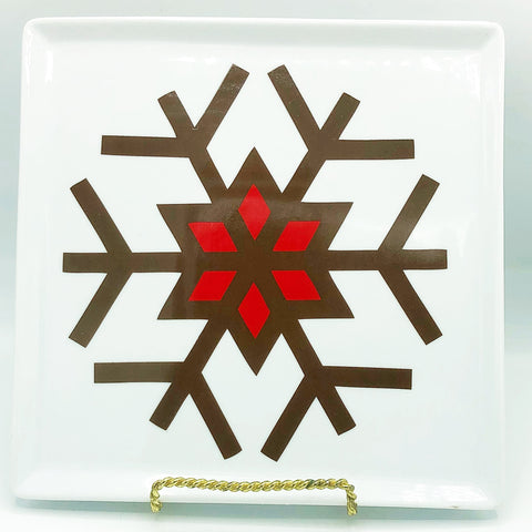 Gingerbread Square Snowflake Salad Plate Food Network