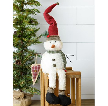 Sweetheart Snowman Plush Shelf Sitter