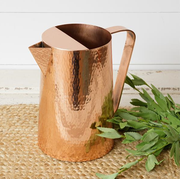 Hammered Copper Toned Pitcher