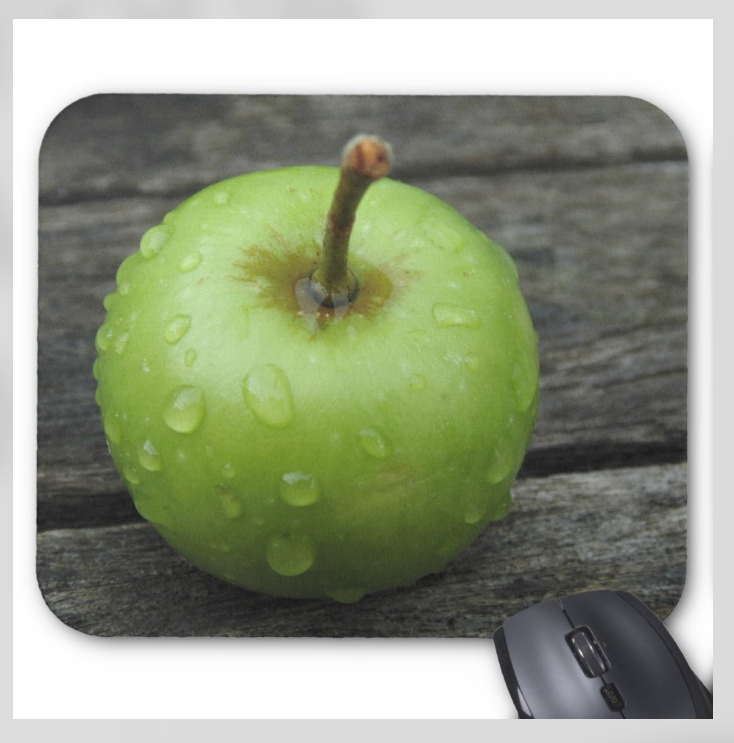 Nature Photo Mousepad - Green Apple - Mouse Pad