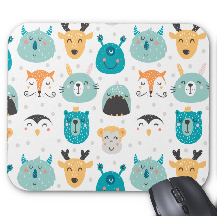 Fun Mousepad - Monsters and Animals - Mouse Pad