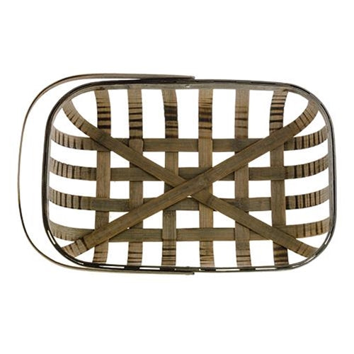 Rectangle Tobacco Basket With Handle