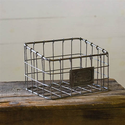 "Wire Grid Organizer with Metal Plate 8"" x 5"""