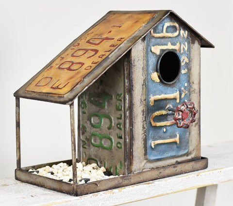 License Plate Reproduction Birdfeeder Birdhouse