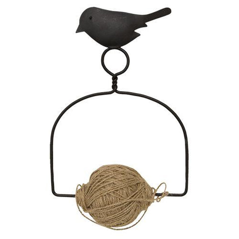Jute Spool Hanger with Bird