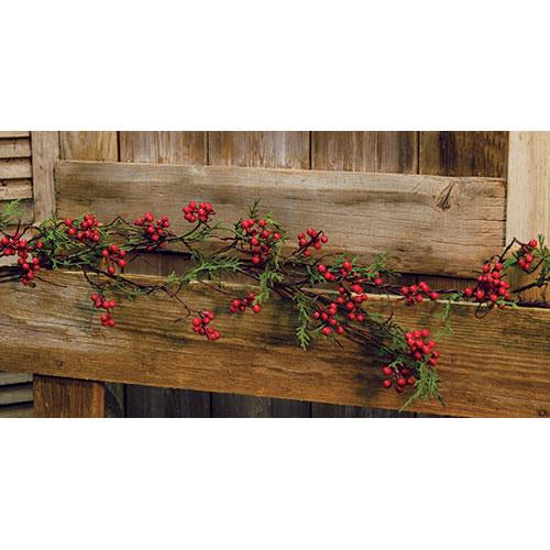 Cedar & Berry Garland, 5 ft
