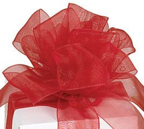 "Sheer Red Ribbon #9 1.5"" x 50Y"