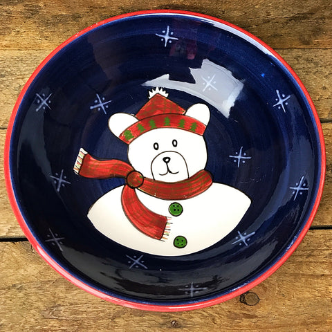 The Cellar Christmas Twilight Collection - Polar Bear Bowl Laurie Gates