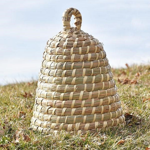 "Large Natural Bee Skep 18"" H"