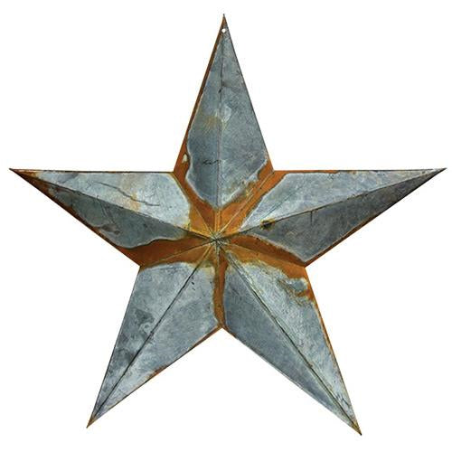 Rusty Galvanized Large Star 24""