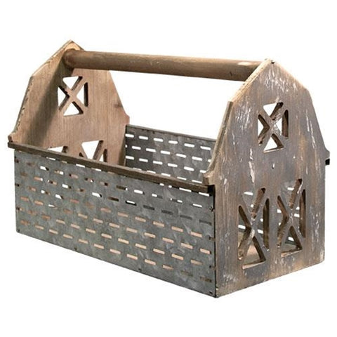 Olive Bucket Barn Wooden Basket