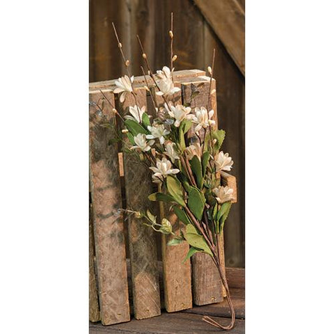 "Teastain Gardenia 18"" Floral Faux Spray"