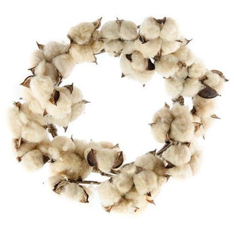 "Teastain Cotton Boll 10"" Wreath"