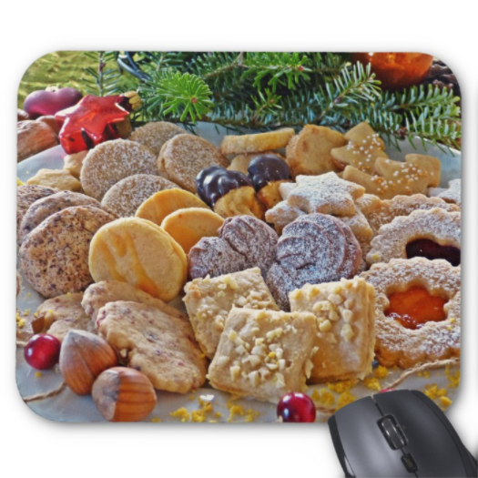 Christmas Mousepad - Christmas Cookie Delight - Mouse Pad