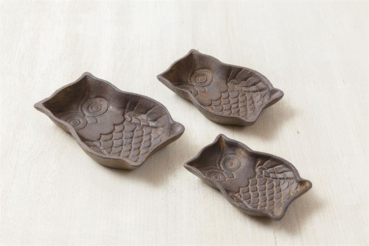 Set of 3 Rustic Owl Trivets Trays