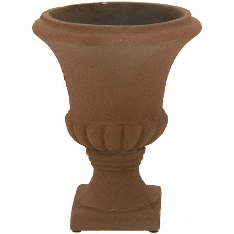"Classic Urn Vase 6.5"" H Planter with Natural Rust Finish"