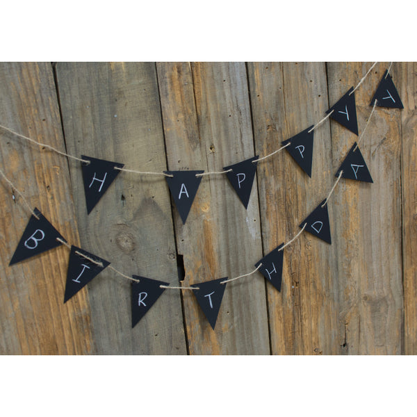 Mini Pennant Chalkboard Garland Tags