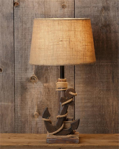 Nautical Anchor Rustic Table Lamp
